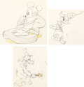 Animation Art:Limited Edition Cel, Mickey's Service Station Mickey Mouse Donald Duck and Goofy Animation Drawings Group of 3 (Walt Disney, 1935). ... (Total: 3 Original Art)