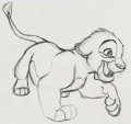 Animation Art:Production Drawing, The Lion King Simba Animation Drawing (Walt Disney,1994)....