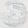 Animation Art:Concept Art, Bambi Collector's Plate Design Art (Walt Disney, c.1980s-90s).... (Total: 2 Original Art)
