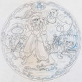 Animation Art:Concept Art, Aladdin Collector's Plates Design Art Group of 3 (WaltDisney, c. 1990s).... (Total: 3 Original Art)
