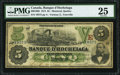 Canadian Currency, Montreal, PQ- Banque D'Hochelaga $5 Jan. 2, 1874 Ch. # 360-10-06.. ...