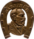 Political:Small Miscellaneous (pre-1896), James A. Garfield: Cast Iron Horseshoe Trivet with Bronze Finish....