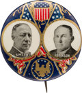 """Political:Pinback Buttons (1896-present), Smith & Robinson: """"Presidential Seal"""" Jugate...."""