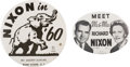 Political:Pinback Buttons (1896-present), Richard Nixon: Pair of Large Pat Gogerty Buttons.... (Total: 2 Items)
