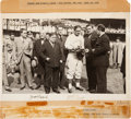 Baseball Collectibles:Photos, 1938 Babe Ruth & Bill Terry Signed Photograph.. ...