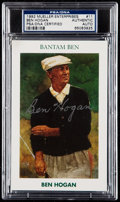 Autographs:Sports Cards, Signed 1992 Mueller Enterprises Ben Hogan #11 PSA/DNA Authentic. ...