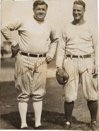 Early 1930's Babe Ruth & Lou Gehrig Signed Photograph
