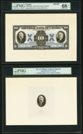Canadian Currency, Toronto, ON- Imperial Bank of Canada $10 11.1.1933 Ch.#375-20-04aFP Front Proof with Portrait Vignettes.. ... (Total: 3notes)