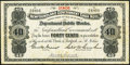 Canadian Currency, St. John's, NF- Newfoundland Government Cash Note 40¢ 1901 Ch. # NF-2a.. ...