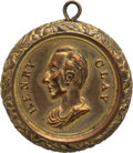 Political:Tokens & Medals, Henry Clay: Brass Shell Locket....