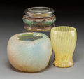 Art Glass:Daum, Two Daum Glass Vases with Silver and Glass Baccarat Box. 20thcentury. Various engravings. Ht. 4-5/8 in. (tallest). ... (Total: 2Items)