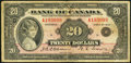 Canadian Currency, BC-9b $20 1935.. ...
