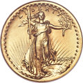High Relief Double Eagles, 1907 $20 High Relief, Wire Rim MS65 NGC....