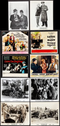 Movie Posters:Comedy, Laurel and Hardy Lot (Various, 1950s-1990s). Photos (5), Color Glass Slide Reprints (3), Restrike/Reproduction Photos (35), ... (Total: 48 Items)