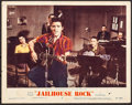 "Movie Posters:Elvis Presley, Jailhouse Rock (MGM, R-1960). Lobby Card (11"" X 14""). ElvisPresley.. ..."