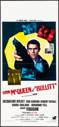 "Movie Posters:Crime, Bullitt (Warner Brothers-Seven Arts, 1969). Italian Locandina(12.75"" X 27.75""). Crime.. ..."