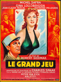 """Flesh and the Woman (Cinedis, 1954). French Grande (45.75"""" X 62"""") Boris Grinsson Artwork. Foreign"""