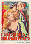 "Movie Posters:Comedy, Marriage is a Private Affair (MGM, Late 1940s). First Post-War Release Italian 2 - Fogli (39"" X 54.75"") Zadro Artwork. Comed..."