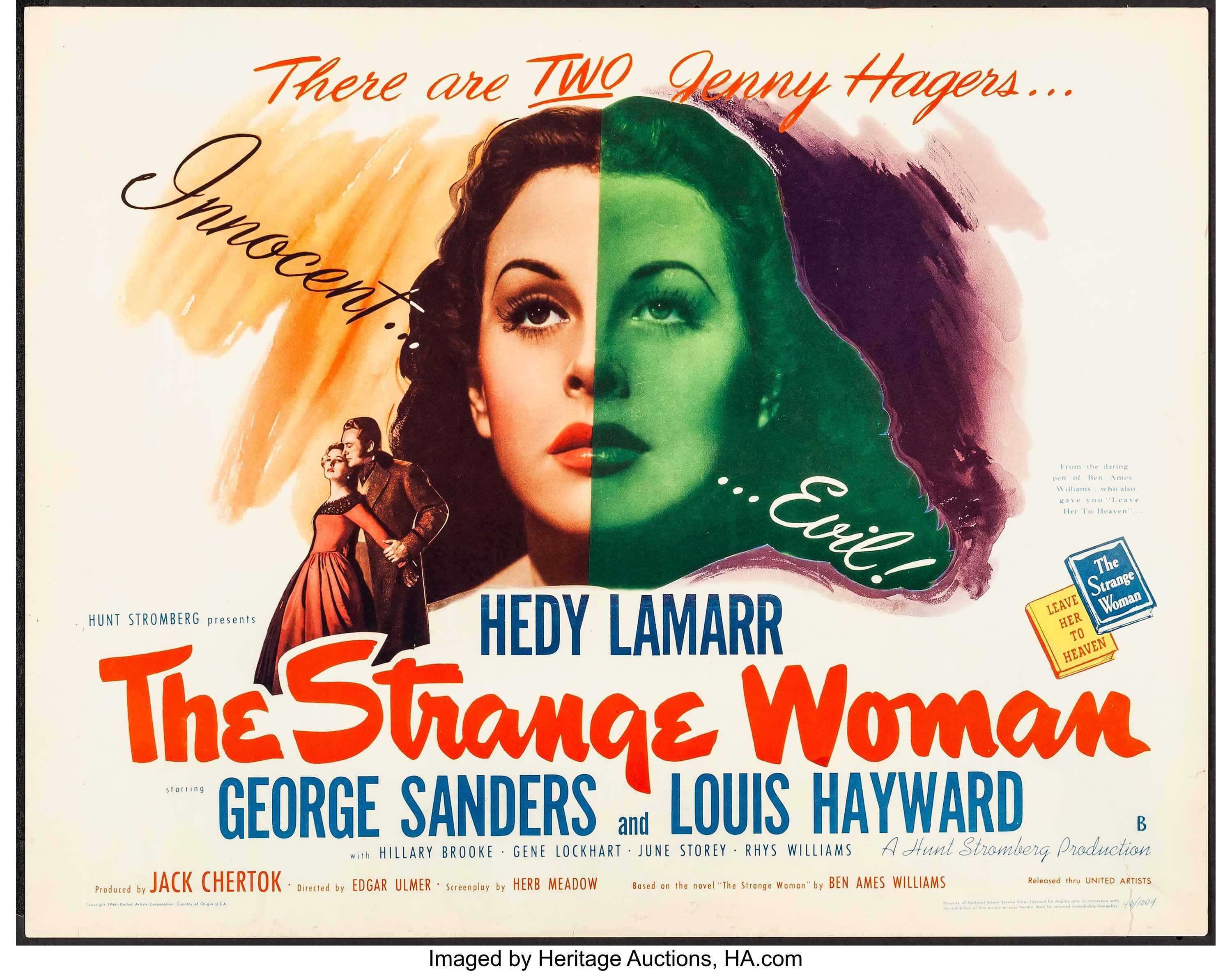 The Strange Woman (United Artists, 1946). Half Sheet (22