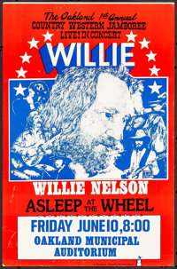 "Willie Nelson Concert Poster (Charlie Magoo Productions, 1977). Concert Poster (11"" X 17""). Rock and Roll"