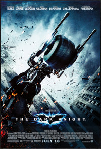 "The Dark Knight (Warner Brothers, 2008). One Sheet (27"" X 40"") DS Advance Style F. Action"