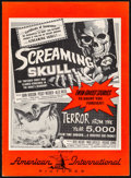 """Movie Posters:Horror, Screaming Skull/Terror from the Year 5000 Combo (AmericanInternational, 1958). Very Fine+. Uncut Pressbook (6 Pages, 11"""" X..."""