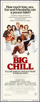 """The Big Chill & Others Lot (Columbia, 1983). Inserts (3) (14"""" X 36""""). Comedy. ... (Total: 3 Items)"""