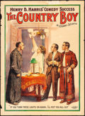 "Movie Posters:Drama, The Country Boy (Russell-Morgan, 1910). Poster (20.5"" X 28""). Drama.. ..."