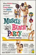 """Movie Posters:Comedy, Muscle Beach Party & Other Lot (American International, 1964). Autographed One Sheet & One Sheet (27"""" X 41""""). Comedy.. ... (Total: 2 Items)"""