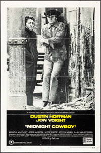 "Midnight Cowboy (United Artists, 1969). Folded, Fine/Very Fine. One Sheet (27"" X 41"") X-Rated Style &..."