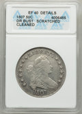 Early Half Dollars: , 1807 50C Draped Bust -- Cleaned, Scratched -- ANACS. XF40 Details.NGC Census: (90/332). PCGS Population: (146/435). CDN: $...