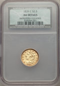 Classic Quarter Eagles, 1839-C $2 1/2 -- Improperly Cleaned -- NCS. AU Details. Breen-6150, Winter-2, Variety 22, R.4....