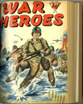 Golden Age (1938-1955):War, War Heroes #1-10 Bound Volume (Dell, 1942-44). These are WesternPublishing file copies which have been trimmed and bound in...