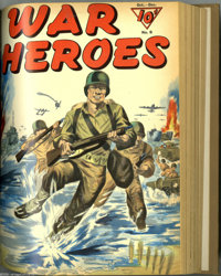 War Heroes #1-10 Bound Volume (Dell, 1942-44). These are Western Publishing file copies which have been trimmed and boun...