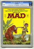 """Magazines:Mad, Mad #102 Gaines File pedigree (EC, 1966) CGC VF/NM 9.0 Off-white towhite pages. Norman Mingo cover. """"National Enquirer"""" par..."""