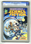 Magazines:Science-Fiction, Unknown Worlds of Science Fiction #4 (Marvel, 1975) CGC NM- 9.2Off-white to white pages. Frank Brunner cover. Richard Corbe...
