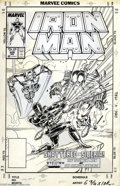 Original Comic Art:Covers, Mark Bright and Bob Layton - Iron Man #229 Cover Original Art(Marvel, 1988). Iron Man takes on two of his most powerful foe...