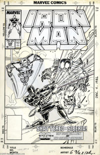 Mark Bright and Bob Layton - Iron Man #229 Cover Original Art (Marvel, 1988). Iron Man takes on two of his most powerful...