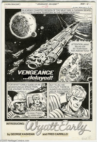 Steve Ditko, Tom Mandrake, and Fred Carrillo - Astral Frontier #1 Complete Unpublished Story, Group of 3 (Whitman, 1982)...