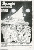Original Comic Art:Splash Pages, Gray Morrow - Supergirl Movie Special, Splash page 1 Original Art(DC, 1984). In a palatial paradise known as Argo City, wid...