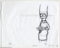 "Original Comic Art:Miscellaneous, The Simpsons - ""Marge"" Preliminary Animation Drawing Original Art(undated). The matriarch of the Simpson clan, decked out i..."