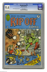 Rip Off Comix #1 (Rip Off Press, 1977) CGC NM 9.4 Off-white to white pages. Features The Fabulous Furry Freak Brothers...
