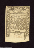 Colonial Notes:Rhode Island, Rhode Island May 1786 3s Choice New. A nice colonial note with atight right margin and somewhat flat paper....