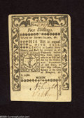 Colonial Notes:Rhode Island, Rhode Island May 1786 5s Choice About New. A broad diagonalcornerfold keeps this note from the New designation....