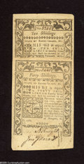 Colonial Notes:Rhode Island, Rhode Island May 1786 10s and 40s New. A well margined pair thatwould grade better but both note have a clip of the upper r... (2notes)
