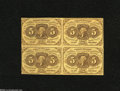 Fractional Currency:First Issue, Fr. 1230 5c First Issue Block of Four Very Fine. As expected, the hardest folds are between the four notes, while traces of ...