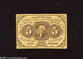 Fractional Currency:First Issue, Fr. 1231 5c First Issue Extremely Fine-About New. This is a nicely margined and beautiful example of this much scarcer strai...