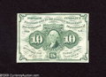 Fractional Currency:First Issue, Fr. 1243 10c First Issue About New. This is a bright note with a center fold. This is the much scarcer straight edge without...