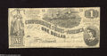 Confederate Notes:1862 Issues, T44 $1 1862. This Third Series issue has complete surfaces and isnice and white, but does have a pinhole. Fine-Very Fine....