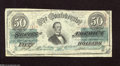 Confederate Notes:1863 Issues, T57 $50 1863. This scarce 1st Series variety (414A) has qualityplain paper with Keatinge & Ball above Fundable. The note da...